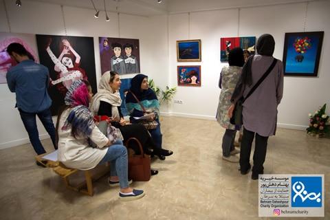 گالری نقاشی موسسه خیریه بهنام دهش پور