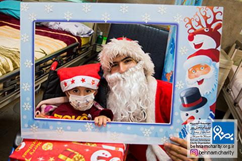 حضور گرم بابانوئل موسسه خیریه بهنام دهش پور