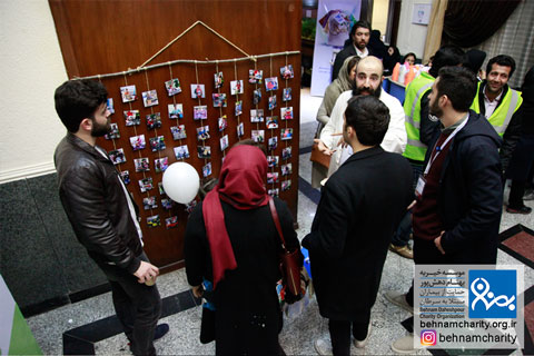 درخت آرزوها در جشنواره موسسه خیریه بهنام دهش پور