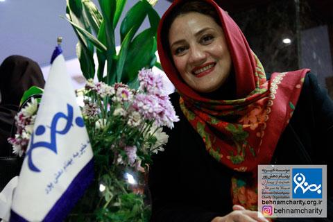 حضور خانم شبنم مقدمی در جشنواره نوروزی موسسه خیریه بهنام دهش پور