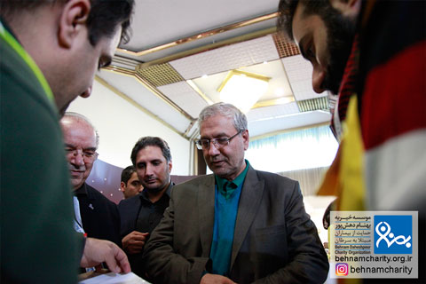 حضور آقای دکتر ربیعی در جشنواره نوروزی موسسه خیریه بهنام دهش پور