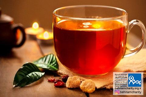 چای عطری سرطان زا است موسسه خیریه بهنام دهش پور