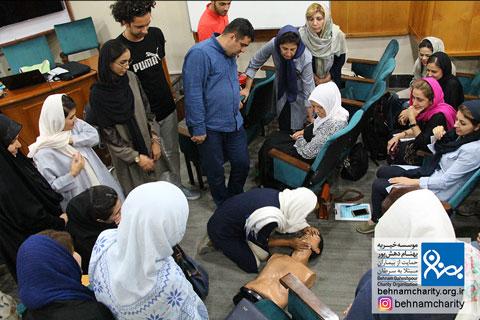 کارگاه کمکهای اولیه و مدیریت بحران موسسه خیریه بهنام دهش پور