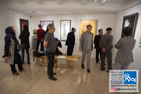 """افتتاحیه گالری خط نقاشی """"احمد محمدپور"""" موسسه خیریه بهنام دهش پور"""