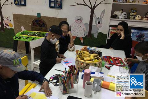 برگزاری کلاسهای نقاشی موسسه خیریه بهنام دهش پور