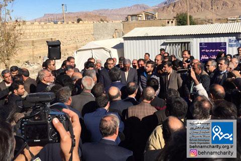بازدید از مناطق زلزلهزده کرمانشاه موسسه خیریه بهنام دهش پور