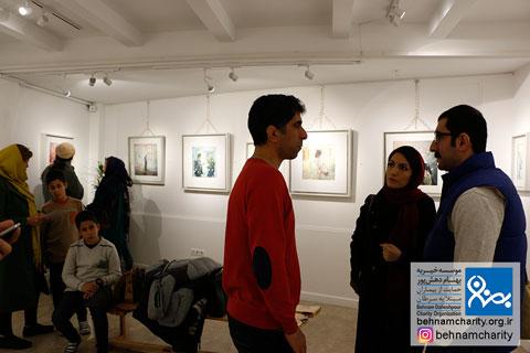 """افتتاحیه نمایشگاه نقاشی """"علی روستاییانفرد"""" موسسه خیریه بهنام دهش پور"""